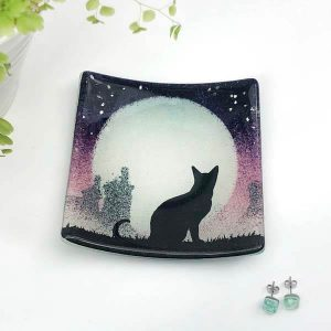 Cat Square Dish