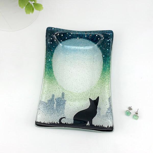 CHG CAT dish 16x11 green