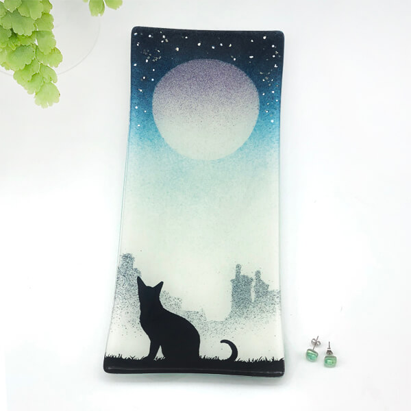 CHG Cat Dish 28x12 Blue