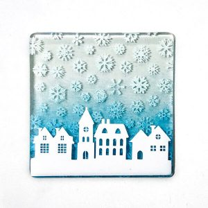 Winter Houses Coaster