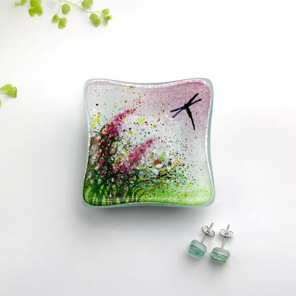 CHG Summer Meadow Dish 6cm Earring Pink