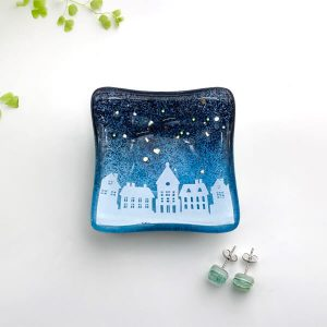Winter Houses Earring Dish