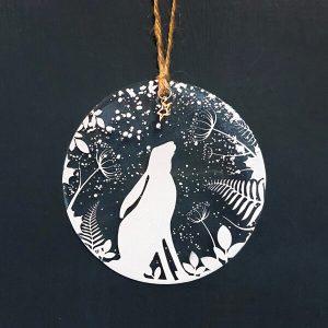 Winter Decoration Winter Hare