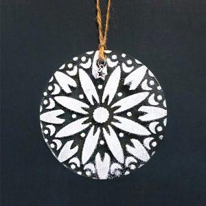Winter Decoration Mandala Water Lily