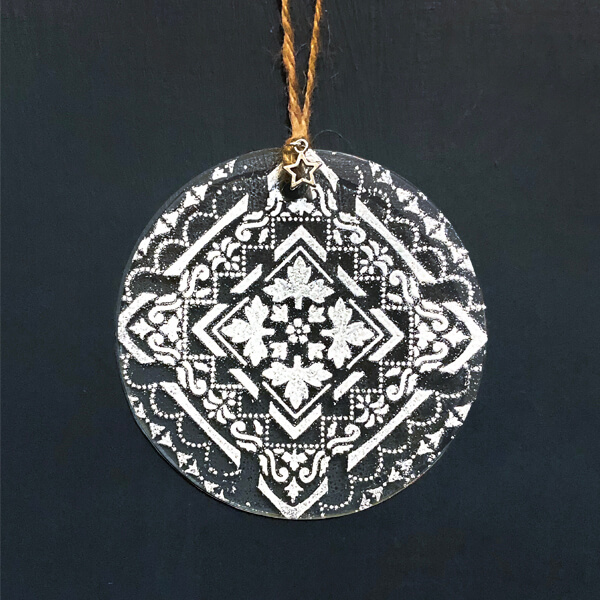 Winter Decoration Tapestry glass disc