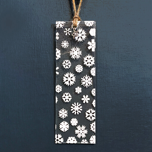 CHG Winter Decoration Rectangle Snowflake small