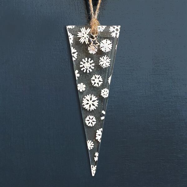 CHG Winter Decoration Triangle Snowflake small