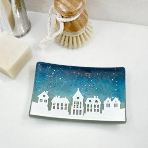 Winter Houses Soap Dish