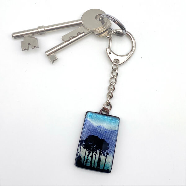 Buttermere glass keyring